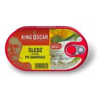KING OSCAR Śledź po gdańsku w oleju 170 g