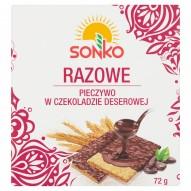 Sonko Pieczywo w czekoladzie deserowej razowe 72 g
