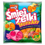 nimm2 Śmiejżelki Tropikary Żelki owocowe wzbogacone witaminami 90 g