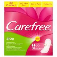 Carefree Aloe Wkładki higieniczne 58 sztuk