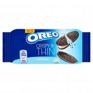 Oreo Original Crispy & Thin Ciastka kakaowe z nadzieniem o smaku waniliowym 48 g