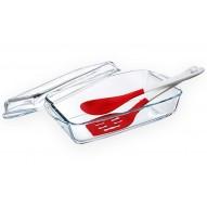 Guzzini naczynie żaroodporne 2,75l + szpatułka i łyżka