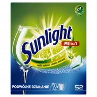 Sunlight All in 1 Tabletki do zmywarki 910 g (52 sztuki)