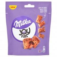 Milka Joy Fills Poduszeczki pszenne z kremowym nadzieniem i czekoladą mleczną 75 g