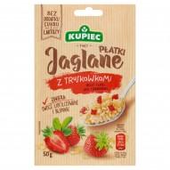 Kupiec Płatki jaglane z truskawkami 50 g