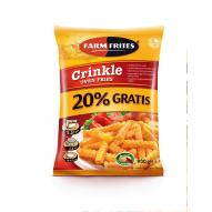FRYTKI CRINKLE OVEN FRIES FARM FRITES 750G +20% GRATIS