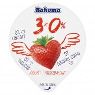 Bakoma 3x0% Jogurt truskawkowy 140 g
