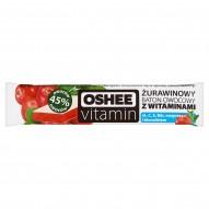 Oshee Vitamin Żurawinowy baton owocowy z witaminami 23 g