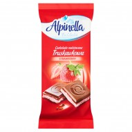 Alpinella Czekolada nadziewana truskawkowa 100 g