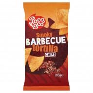 Poco Loco Chipsy kukurydziane tortilla o smaku barbecue 200 g