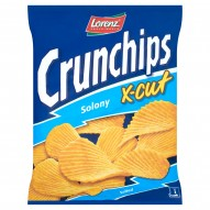Crunchips X-Cut Solony Chipsy ziemniaczane 150 g