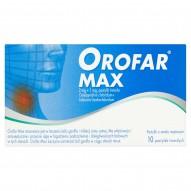 Orofar Max 2 mg + 1 mg Pastylki twarde o smaku miętowym 10 pastylek