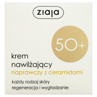 Ziaja Krem nawilżający naprawczy z ceramidami 50+ każdy rodzaj skóry 50 ml