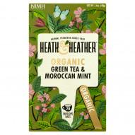 Heath & Heather Herbata zielona organiczna z miętą 40 g (20 saszetek)