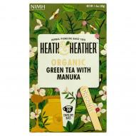Heath & Heather Herbata zielona organiczna z naturalnym aromatem miodu manuka 40 g (20 saszetek)
