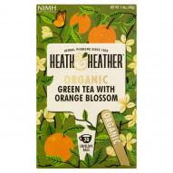 Heath & Heather Herbata zielona organiczna z naturalnym aromatem pomarańczowym 40 g (20 saszetek)