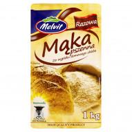 Melvit Mąka pszenna razowa do wypieku domowego chleba 1 kg