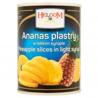 Helcom Ananas plastry w lekkim syropie 565 g