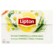 Lipton Relaksujący rumianek z trawą cytrynową Herbatka ziołowa 20 g (20 torebek)