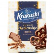 Krakuski Pierniki Królewskie Precle w czekoladzie 150 g