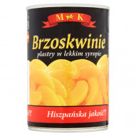 MK Brzoskwinie plastry w lekkim syropie 420 g