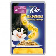 Felix Sensations Karma dla kotów z kaczką w galaretce ze szpinakiem 100 g