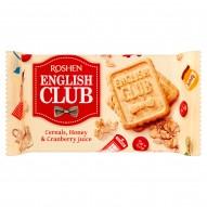Roshen English Club Kruche ciastka z płatkami owsianymi miodem i sokiem żurawinowym 112 g