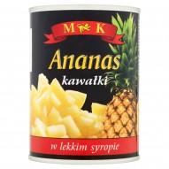 MK Ananas kawałki w lekkim syropie 565 g