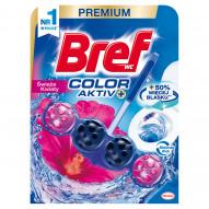 Bref WC Color Aktiv+ Zawieszka do muszli WC świeże kwiaty 50 g