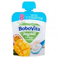 BoboVita JogoMi! Owoce z jogurtem z mango i marakują po 8 miesiącu 80 g