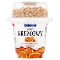 Bakoma Jogurt kremowy z pomarańczą i granolą 230 g