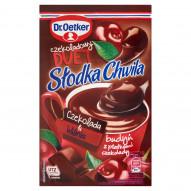 Dr. Oetker Słodka Chwila Czekoladowy Duet Czekolada & Wiśnia Budyń z płatkami czekolady 45 g