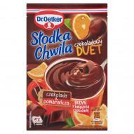 Dr. Oetker Słodka Chwila Czekoladowy Duet Budyń z belgijską czekoladą czekolada & pomarańcza 45 g