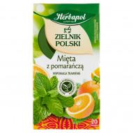 Herbapol Zielnik Polski Herbatka ziołowo-owocowa mięta z pomarańczą 30 g (20 x 1,5 g)